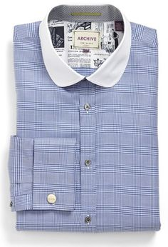 95ff30a3f Fitted Dress Shirts, Shirt Dress, Ted Baker, Blue And White, London,
