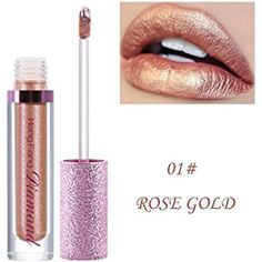 Rouge à Lèvres, Tefamore Diamants Shimmer Lipstick Imperméable Longue Durée Maquillage Cosmétique de Beauté de Lèvre