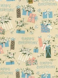 Vintage Wrapping Paper - Presents by my-name-is-annie, via Flickr