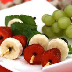 Brochettes de Mikado aux fruits