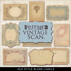 Freebies Old Style Labels:Far Far Hill - Free database of digital illustrations…