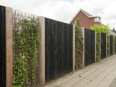 Tuinafscheiding Helmert Douglas schutting is part of Garden nook - Diy Fence, Backyard Fences, Garden Fencing, Fenced In Yard, Backyard Landscaping, Fence Ideas, Garden Nook, Interior Garden, Fence Design
