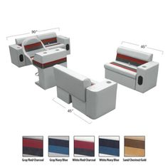 Deluxe Pontoon Furniture - Complete Boat Traditional Package - Overton's