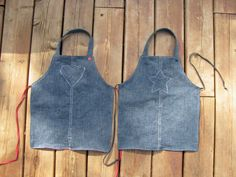 eco friendly kids jeans craft Apron upcycled by spaghettis on Etsy, $24.00