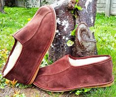 Men's suede leather shoes slippers by www.reindeerleather com