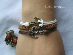 bracelet+anchor+bracelet++double+anchor+bracelet+by+totorovogue,+$5.99