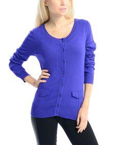 Look at this #zulilyfind! Pink Ocean Blue Pocket Cardigan by  #zulilyfinds
