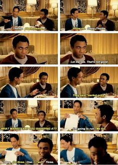 Troy and Abed dine and dash.