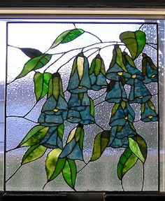 Rainy Day Blue Bells - Delphi Stained Glass