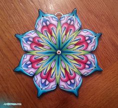 Polymer clay MANDALA by Yonat Dascalu, via Flickr