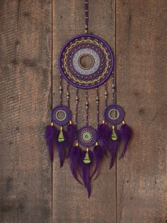 Dream catcher / Violet dream catcher / Boho dream by MyHappyDreams