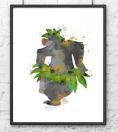 The Jungle Book Watercolor Baloo Dancing by gingerkidsart on Etsy Room Themes, Nursery Themes, Nursery Decor, Room Decor, Nursery Ideas, Bedroom Ideas, Jungle Book Nursery, Jungle Bedroom, Boy Room