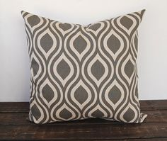 Gray Pillow cover 20 x 20 one gray and beige by ThePillowPeople, $20.00