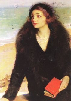 URSULA BLOOM (Novelist. 1892-1984) on the Promenade at Walton-on-the-Naze, 1932, by Charles A. BÜCHEL (born Karl August Büchel, Germany 1872–1950 England). More on the artist:    http://en.wikipedia.org/wiki/Charles_Buchel  ... More on Bloom:  http://en.wikipedia.org/wiki/Ursula_Bloom ...  Don't you just love the look from this era!? - pfb ... KEEP attribution & site link when repinning or posting to other social media (ie blogs, twitter, tumblr etc). -pfb
