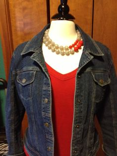 Color block looks great with denim!