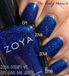 Comparison - OPI Give Me Space + Zoya Dream