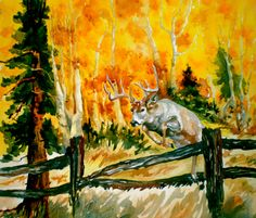 Autumn Hunt, watercolor.  This one got away