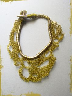 Colored wire free form crocheted choker, 75.00 EUR, click for details by WearitCrochet