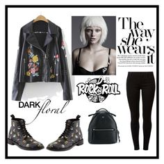 """""""J"""" by ena07-dlxx ❤ liked on Polyvore featuring WithChic, Yves Saint Laurent, Dorothy Perkins, Fendi and darkflorals"""