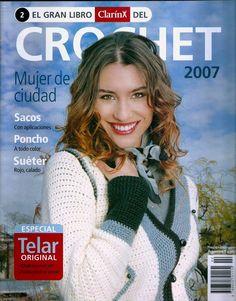 Archivo de álbumes Crochet Book Cover, Crochet Books, Crochet Ponchos, Crochet Clothes, Knitted Hats, Knitting Magazine, Crochet Magazine, Crochet Chart, Crochet Stitches