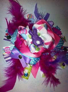 OTT Bow Easter Bow Springtime Bow by LBsBowtique on Etsy