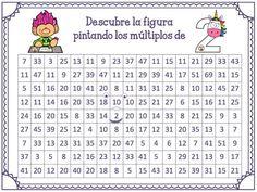 Descubre la figura pintando los múltiplos para trabajar y aprender las tablas de multiplicar   Educación Primaria