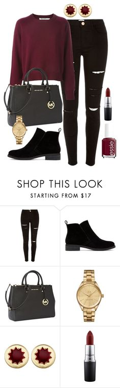 """Untitled #150"" by marr-neubauerova on Polyvore featuring River Island, Lucky Brand, Michael Kors, Lacoste, House of Harlow 1960, MAC Cosmetics and Essie"