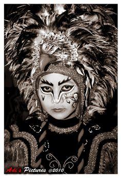 Traditional feathered headdress in Borobudur, Java, Indonesia.