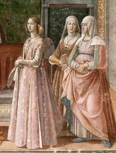 1485-1490 Domenico Ghirlandaio, Birth of John the Baptist (detail)