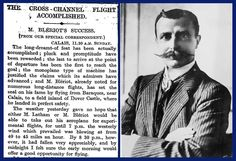 25th July 1909 - Bleriot crosses the English Channel