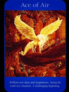 Card of the day -Ace of Air, Expect inspiration from past troubles and the opportunity to create something amazing. See clarity replace confusion as you focus on your long term goals and create a plan of action. #tarot #selfridges #psychicsisters