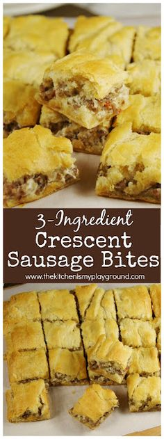 Brunch Recipes, Appetizer Recipes, Party Appetizers, Recipes Dinner, Sausage Recipes, Cooking Recipes, Chef Recipes, Easy Recipes, Sausage Bread
