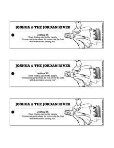 Joshua 3 Crossing the Jordan River Bible Bookmarks: The classic Bible story of Crossing the Jordan River is too good not to read again! Encourage your kids to read Joshua 3-4 at home with this Crossing the Jordan River craft perfect for your upcoming Joshua 3 Sunday school lesson.