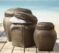 Baskets Pottery Barn And Pottery On Pinterest