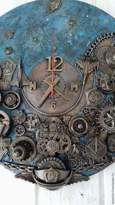 Часы `Мечта` фрагмент Wood Crafts, Diy And Crafts, Baroque Furniture, Handmade Clocks, Sculpture Painting, Diy Clock, Upcycled Crafts, Mixed Media Collage, Art Techniques