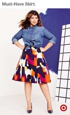 6f21742bb23bb Looking great is easy when you have this colorful Ava + Viv skirt—it s the