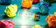 Incandescent Bulb And Colorful Notes On Turquoise Wooden Table Photography , Colorful Notes, Bipolar Disorder, Third Way, Creative Thinking, Your Brain, Color Theory, Software Development, Disorders, Sweets