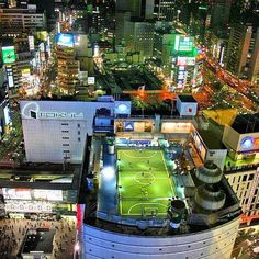 Soccer pitch in Japan