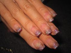 glitter gradient french mani .. want china glaze techno for this!