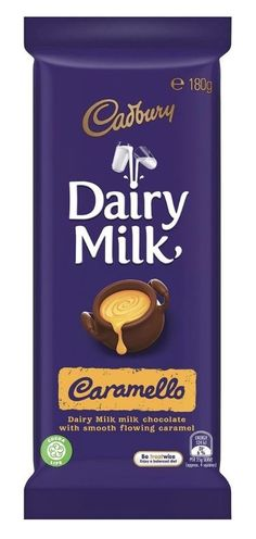 Cadbury: Dairy Milk - Caramello (15 x 180g) Cadbury Dairy Milk, Soy Lecithin, Golden Syrup, Condensed Milk, Cocoa Butter, Serving Size, Caramel, Nutrition, Chocolate