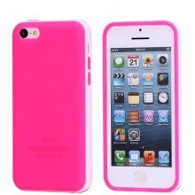 Funda iPhone 5C - Gel Fucsia Blanco  AR$ 38,76