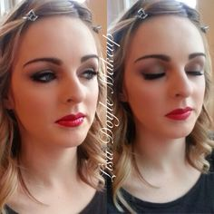 Soft brown smokey eye with a red lip #macrubywoo