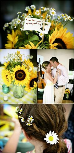 Outdoor Wedding Sunflowers Orchard Cove New York North Fork