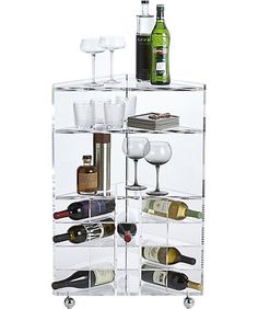 Bar Carts and Modern Dining Room Storage Tiny Apartments, Tiny Spaces, Modern Home Bar, Bar Unit, Dining Room Storage, Small Space Solutions, Storage Solutions, Tea Cart, Gold Kitchen
