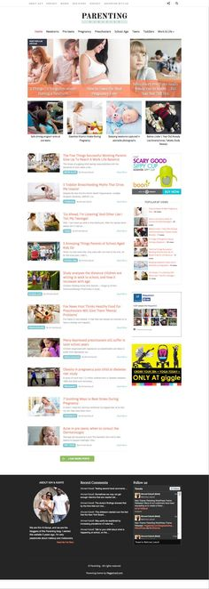 Parenting WordPress Childcare Magazine Blogs Theme