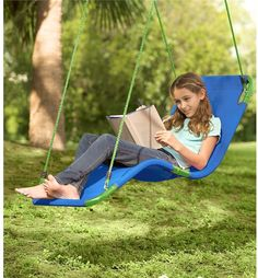 Um, YES, please! -  HearthSong Olefin Hanging Chaise Lounger #affiliatelink