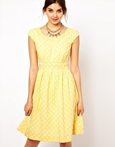 Emily & Fin Polka Skater Dress  RRP $98.34  $59.34  Free Shipping Both Ways  »        Dress by Emily & Fin      - Made from 100% pure cotton      - Breathable woven fabric      - High, fitted waistband      - Zip back fastening      - Fit and flare style