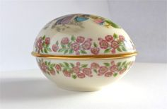 1985 Limited Edition Lenox Porcelain Easter Egg available on Ruby Lane