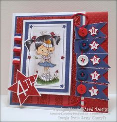 "Bouncyflouncyfunfunfun: Hooray For The Red, White And Blue.    ""Avery May Flowers"""