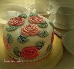 Small Vintage Rose Cake Rose Cake, Vintage Roses, Celebration Cakes, Birthdays, Birthday Cake, Desserts, Christmas, Food, Shower Cakes